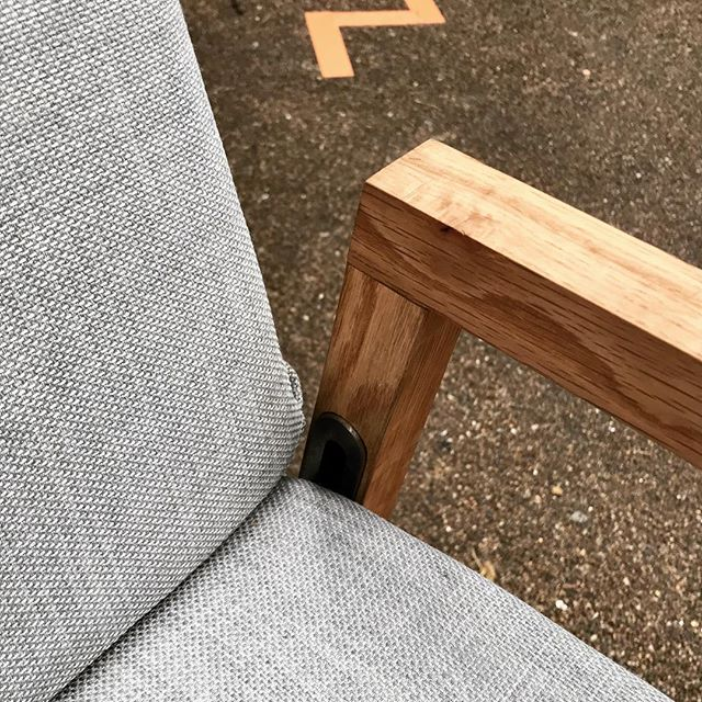 Another piece of furniture at the Fresh Produce Show by @charlie_harland this domestic  adjustable chair is called Lenestol. Come take a look at @oldspitalfieldsmarket #maker #furniture #furnituredesigner #chair #homeoffice #create #design