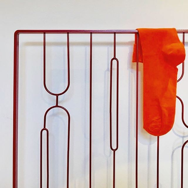 Another product on show today @oldspitalfieldsmarket by @sena.pfd A clothes rack which is as beautiful as it is functional! #ldf18 #wallart #design #productdesign #designer #maker #metalwork #create #laundry #decor