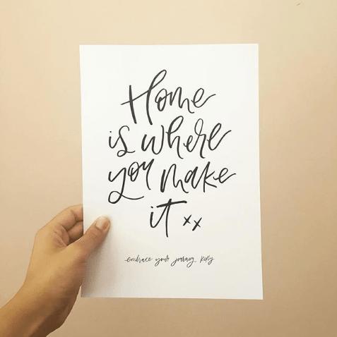 Light of Leni | Custom Hand Lettered Print