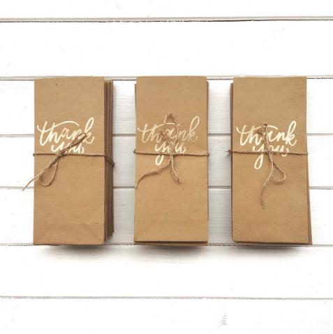 Light of Leni | Hand Lettering | Bridal Shower Gift Bags
