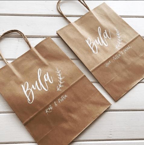 Light of Leni | Hand lettering | Gift Bags