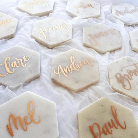 Light of Leni | Hand Lettering | Marble Tile Calligraphy