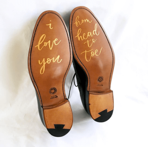 Light of Leni | Hand Lettering | Shoe Sole Calligraphy