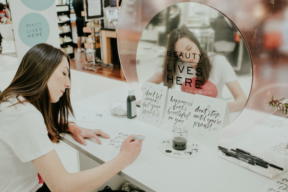 Light of Leni | Live Lettering | Myer