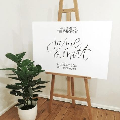 Light of Leni | Signage | Wedding Entry Sign