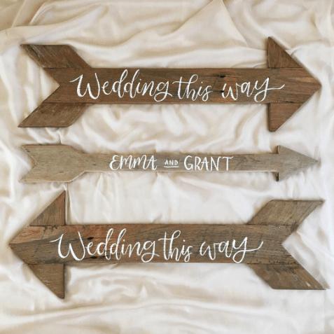 Light of Leni | Signage | Wedding Directional Signs