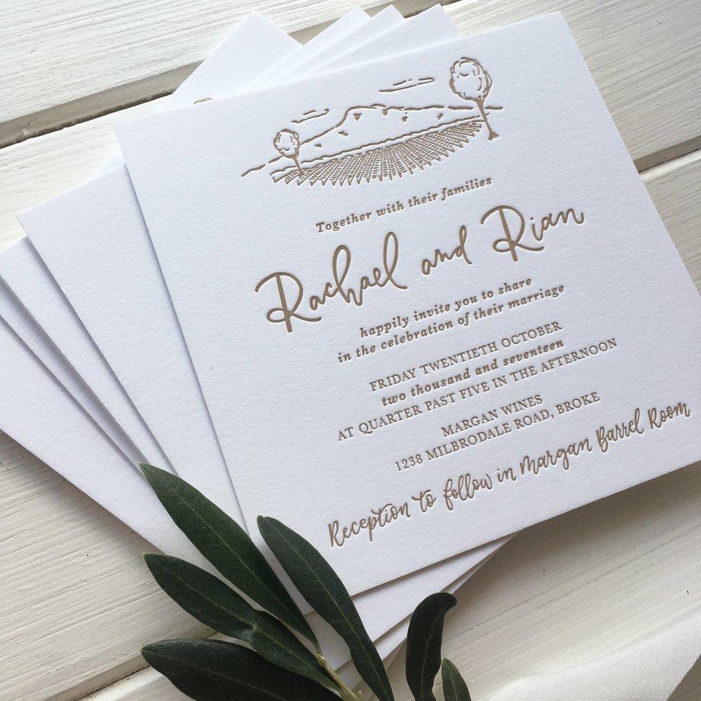 Light of Leni | Wedding Invitations | Letterpress