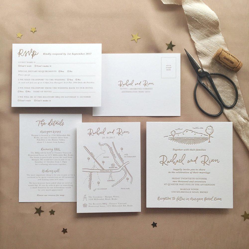 Light of Leni | Wedding Invitations