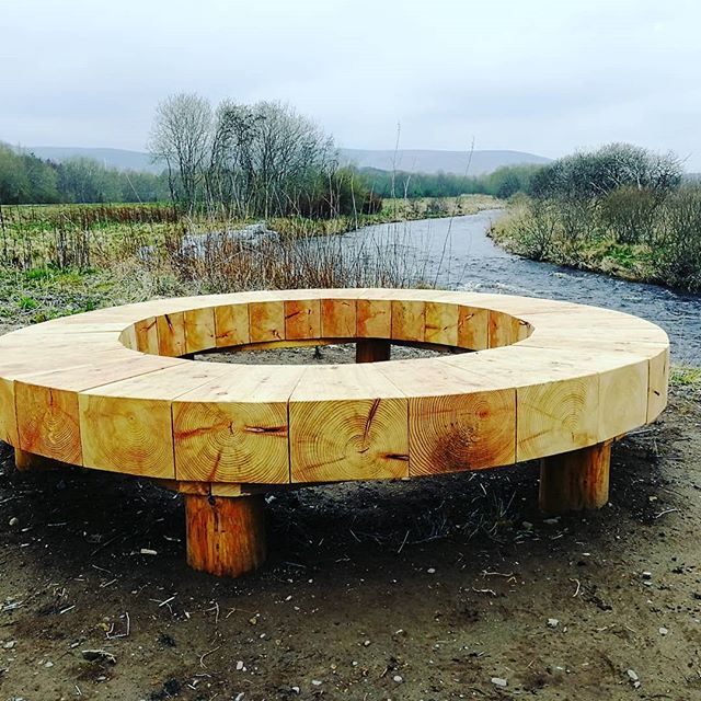 Love the new seating on #riverdeveron #huntly #community #natureconnection