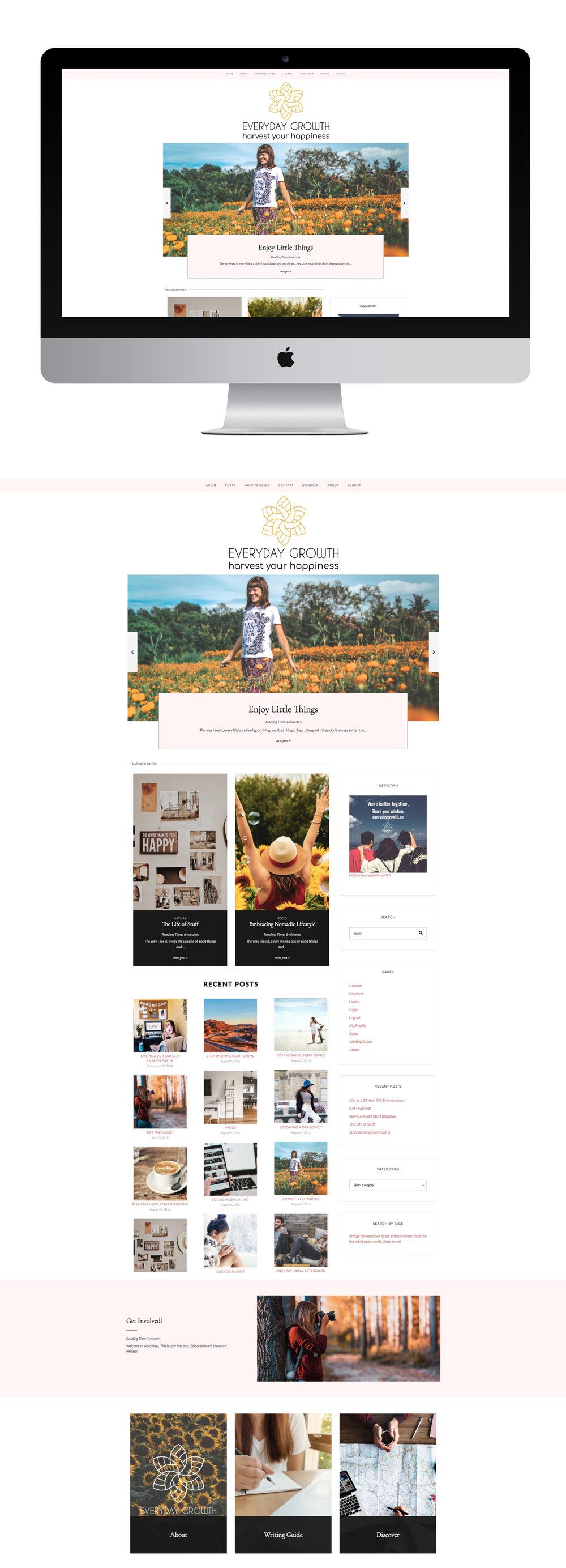 Everyday Growth Website Design