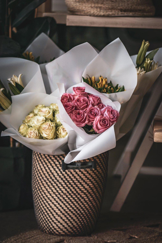 Tulip + Twine flower boutique branding