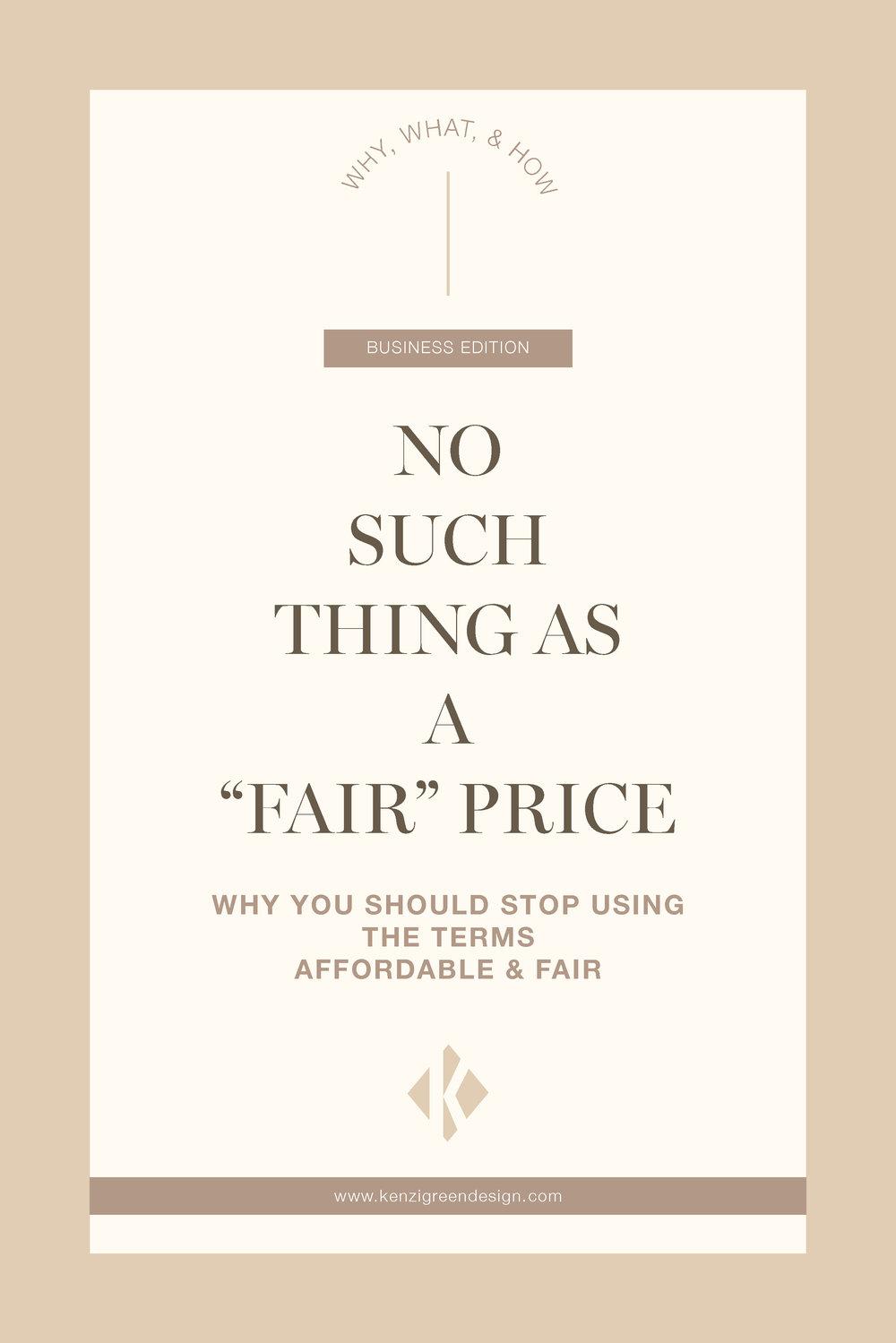 No such Thing as a Fair Price