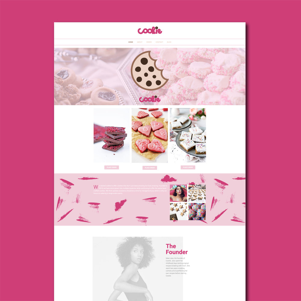 Cookie Website by Kenzi Green Design