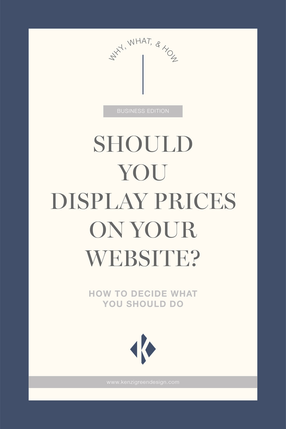 Should you display prices on your website? How to decide what you should do. #websitetips #businesstips #biztips