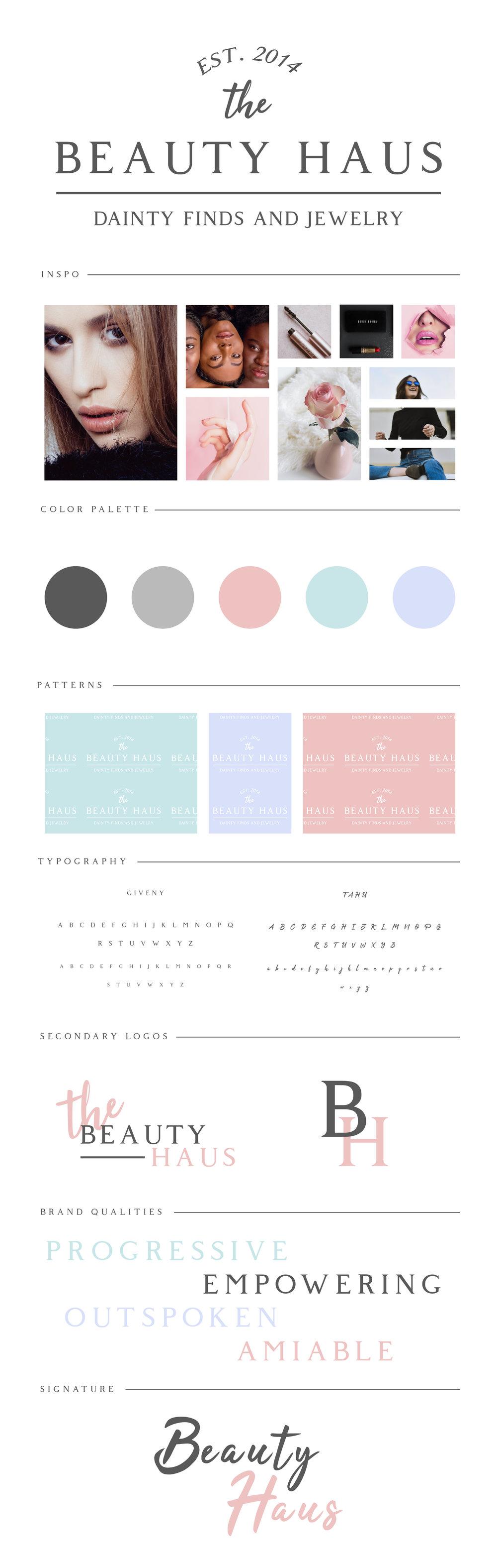 The BEAUTY HAUS Brand Strategy Guide by Kenzi Green Design #branding #logodesign #beautybrand #brandidentity