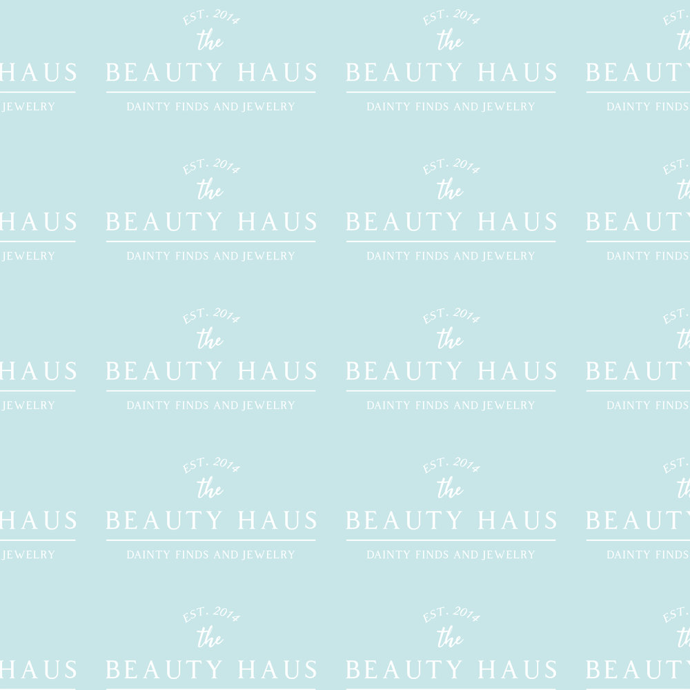 The BEAUTY HAUS Pattern Design by Kenzi Green Design #patterndesign #brandpattern