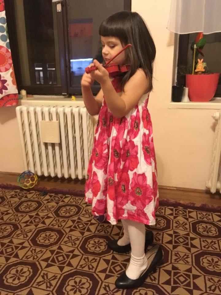 "She took mum's shoes and violin and said ""I must go to the concert!"""