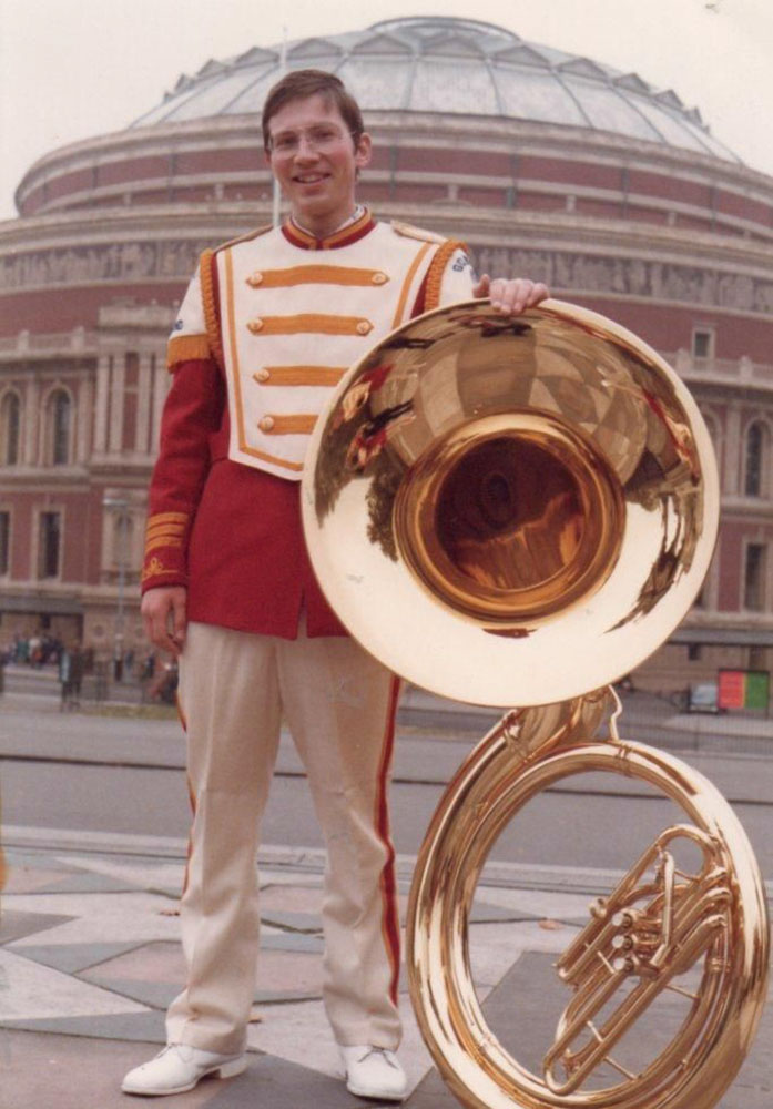 Reinhold in front of the Royal Albert Hall, 1978
