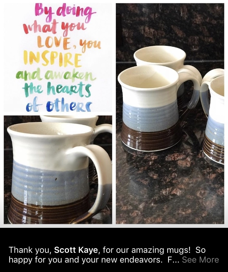 Angie in Arlington loves her new mugs! Thank you Angie!