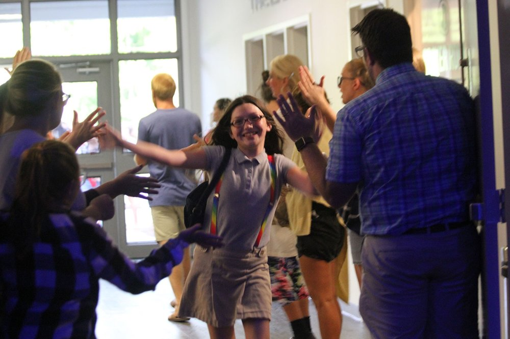 High School Greeting Team - If you are outgoing and love to smile and make people feel comfortable, you will enjoy being a Greeter. As students arrive, you will welcome students and make them feel at home.
