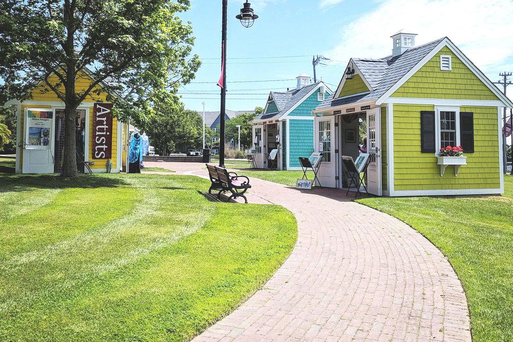 Harbor Overlook HyArts Shanties: 51 Ocean St,  at the corner of South St & Ocean St, Hyannis MA