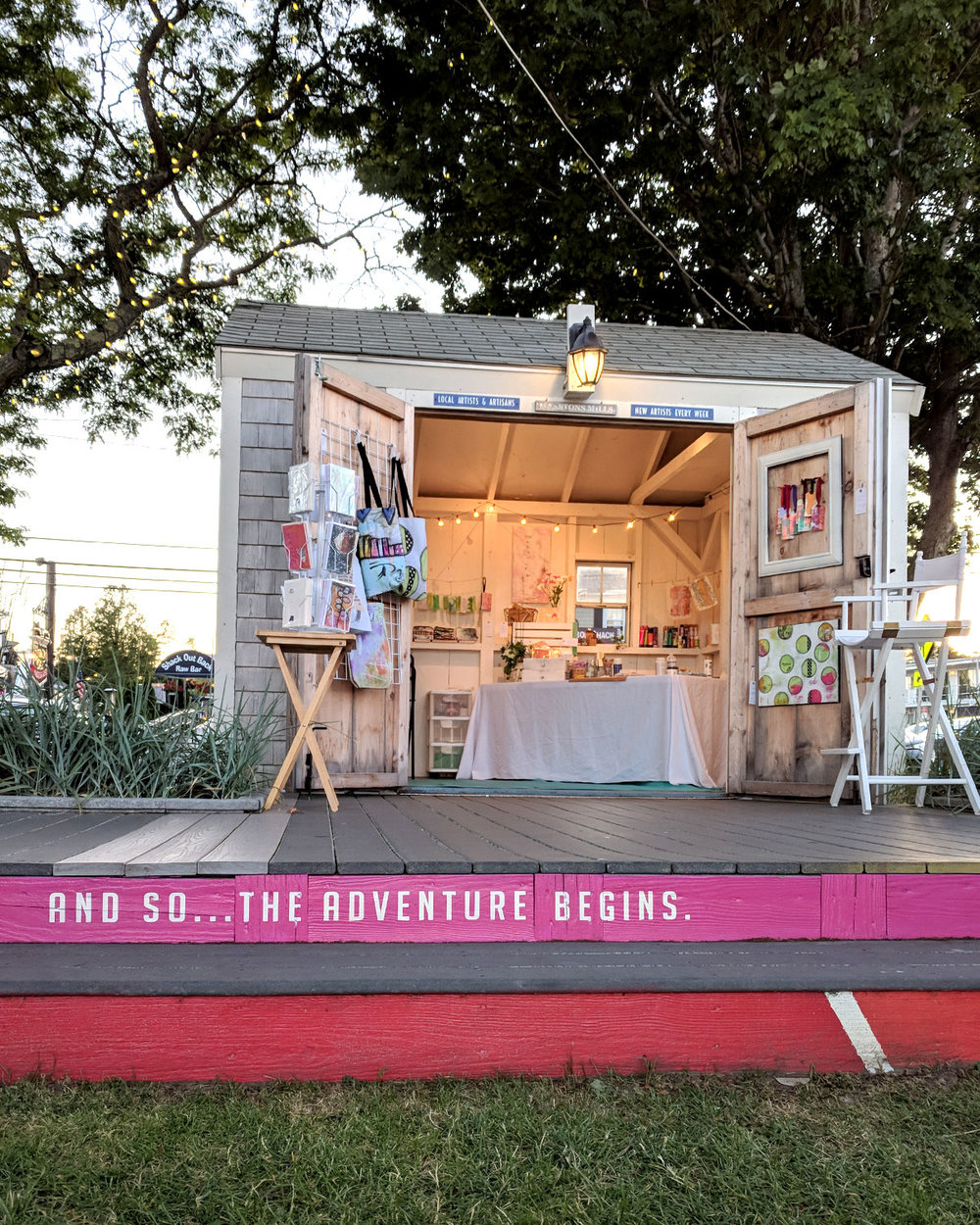 Sylvia Quiroga styled her shanty and added festive lights to make it bright and inviting