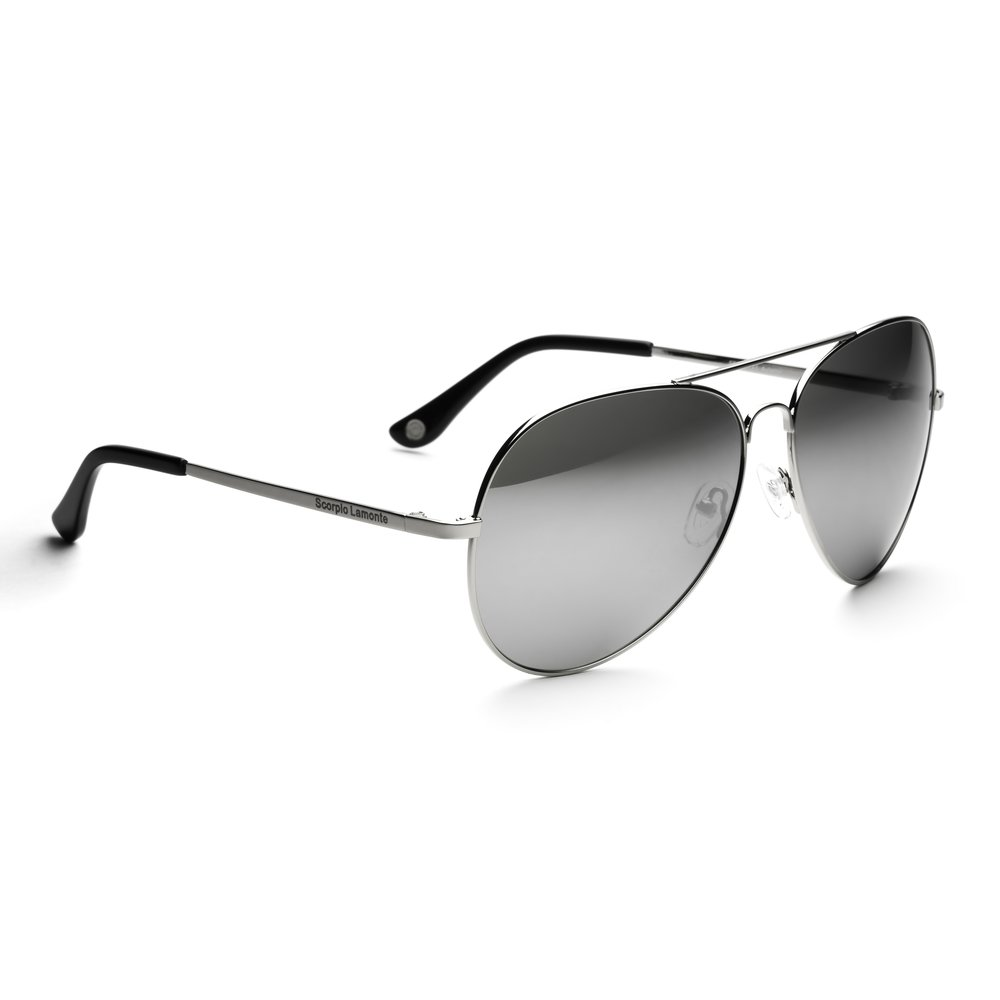 315a43f862 Aviator Chrome Mirrored Sunglasses — Scorpio Lamonte Eyewear