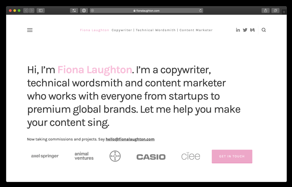 Websites for freelancers - We accurately capture your personality, describe your unique services, approach, and processes so you receive bigger and more consistent clients.