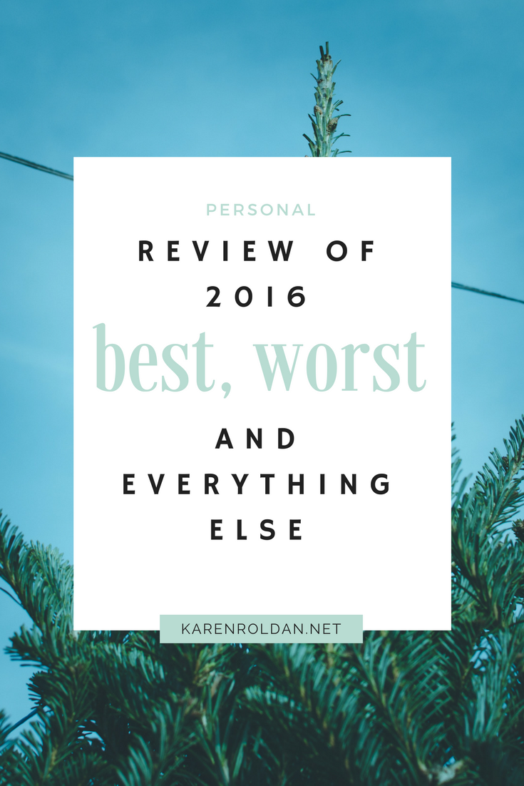 Review in the Year 2016: Best, worst and everything else 1
