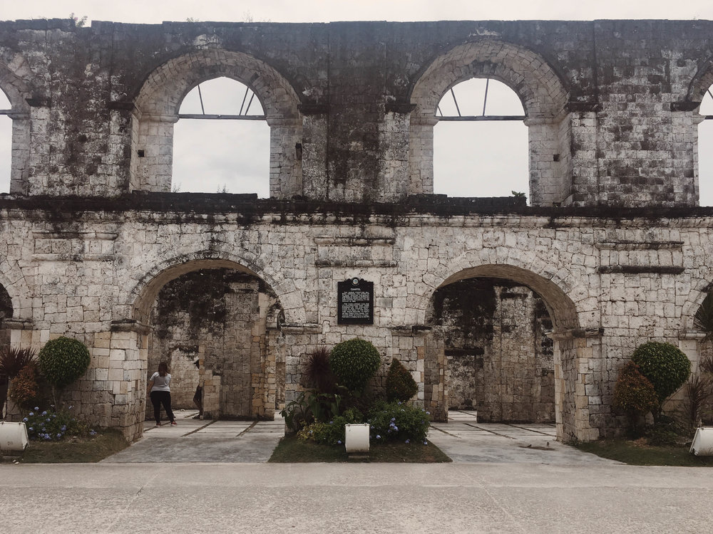 Cuartel - Cuartel is supposed to be a military barracks for Spanish soldiers. It started in 1860, but it remained unfinished at the end of the Spanish regime in 1898 because of the arrival of Americans. Now, Cuartel stood still and is known as one of the heritage sites in Oslob.