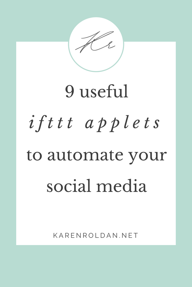IFTTT applets to automate your social media