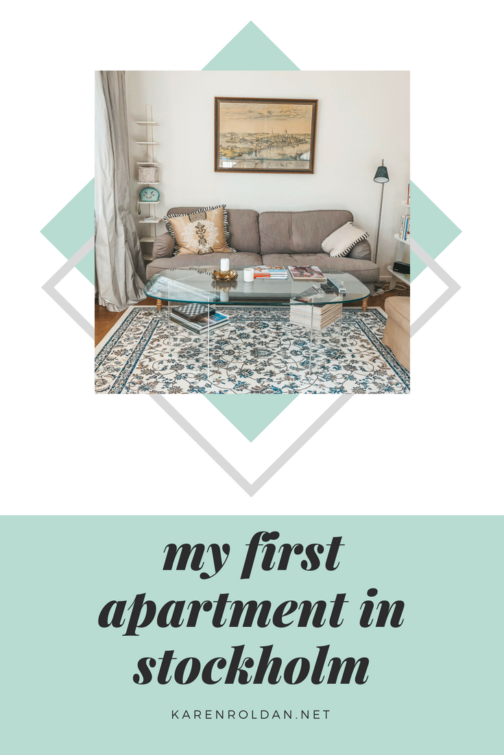 Take a peek inside my first apartment in Stockholm.