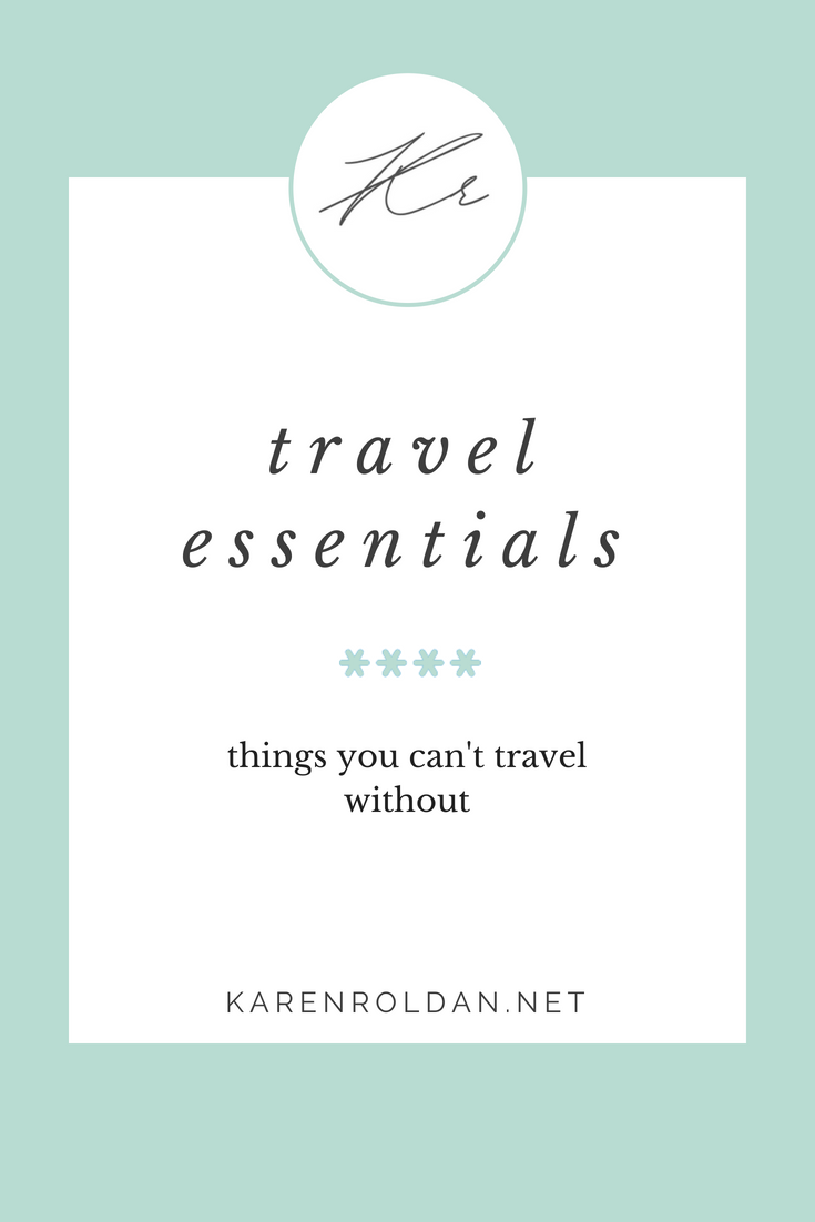 Travel essentials 1
