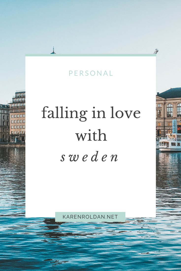 People have been asking me a lot how I think of Sweden. I don't know what to say or how to react. There are so many reasons to love this country. I'm sure I would have more to say once I get to experience Sweden more.