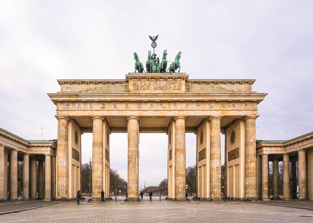 Everybody probably knows this landmark, and everybody has a picture here, of course! The Brandenburg Gate used to be a symbol of division in Germany, but now it is Berlin's symbol of peace and unity.