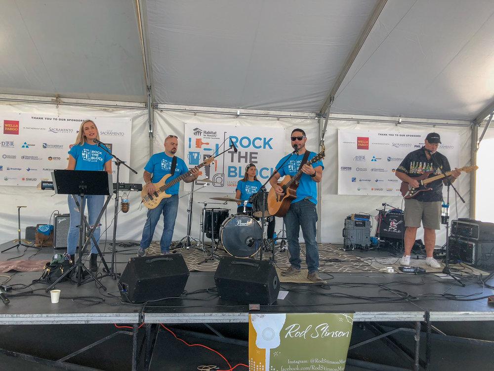rock the block fundraiser event rod stinson band