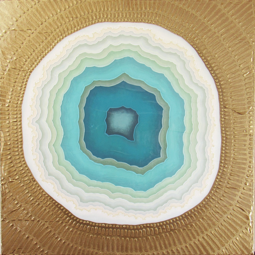 Geode 6 , 2018, 20x20, acrylic on canvas. available.