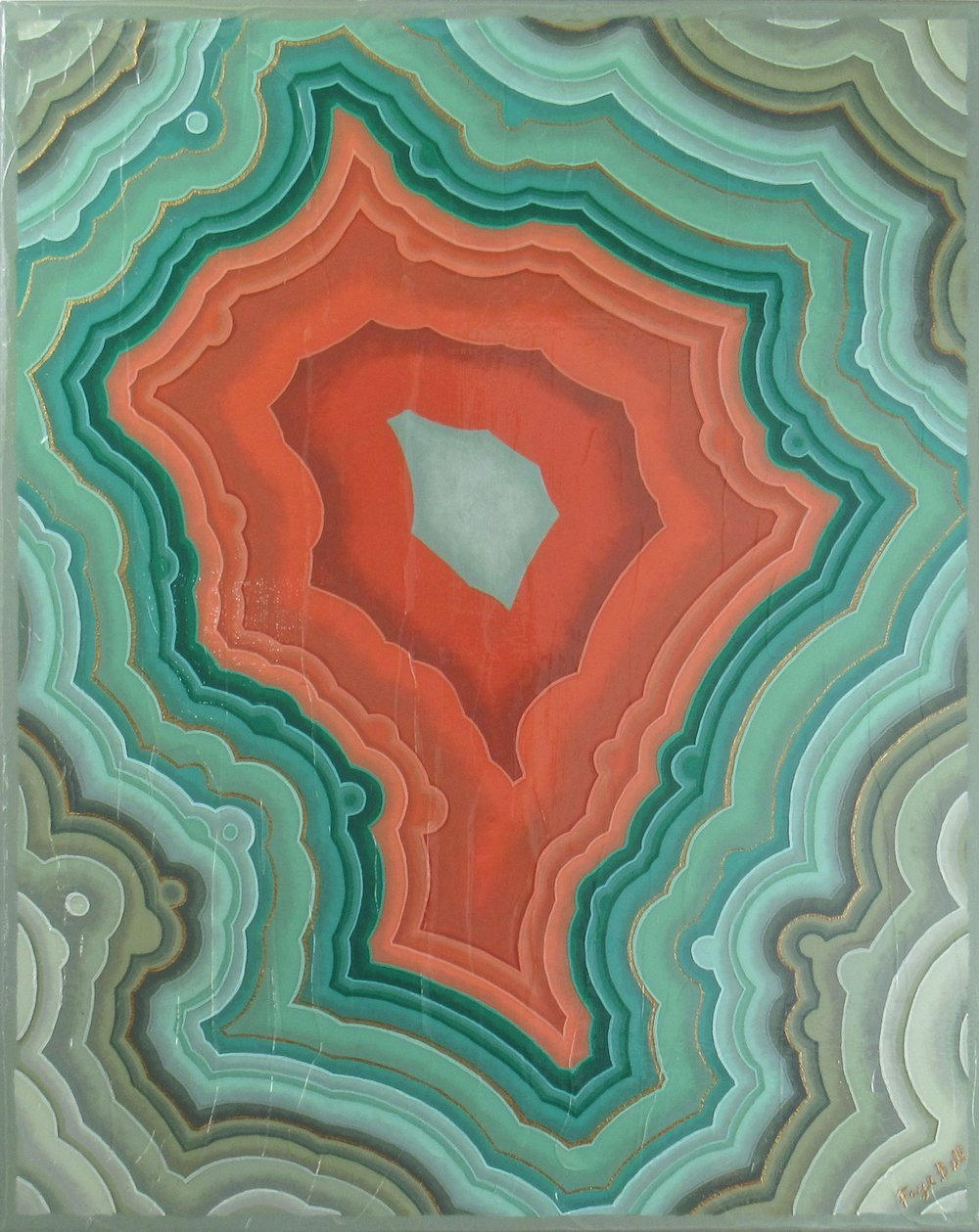 Agate VII (Feldspar) , 2017, 24x30, acrylic on canvas. available through  Atlanta Artist Collective .