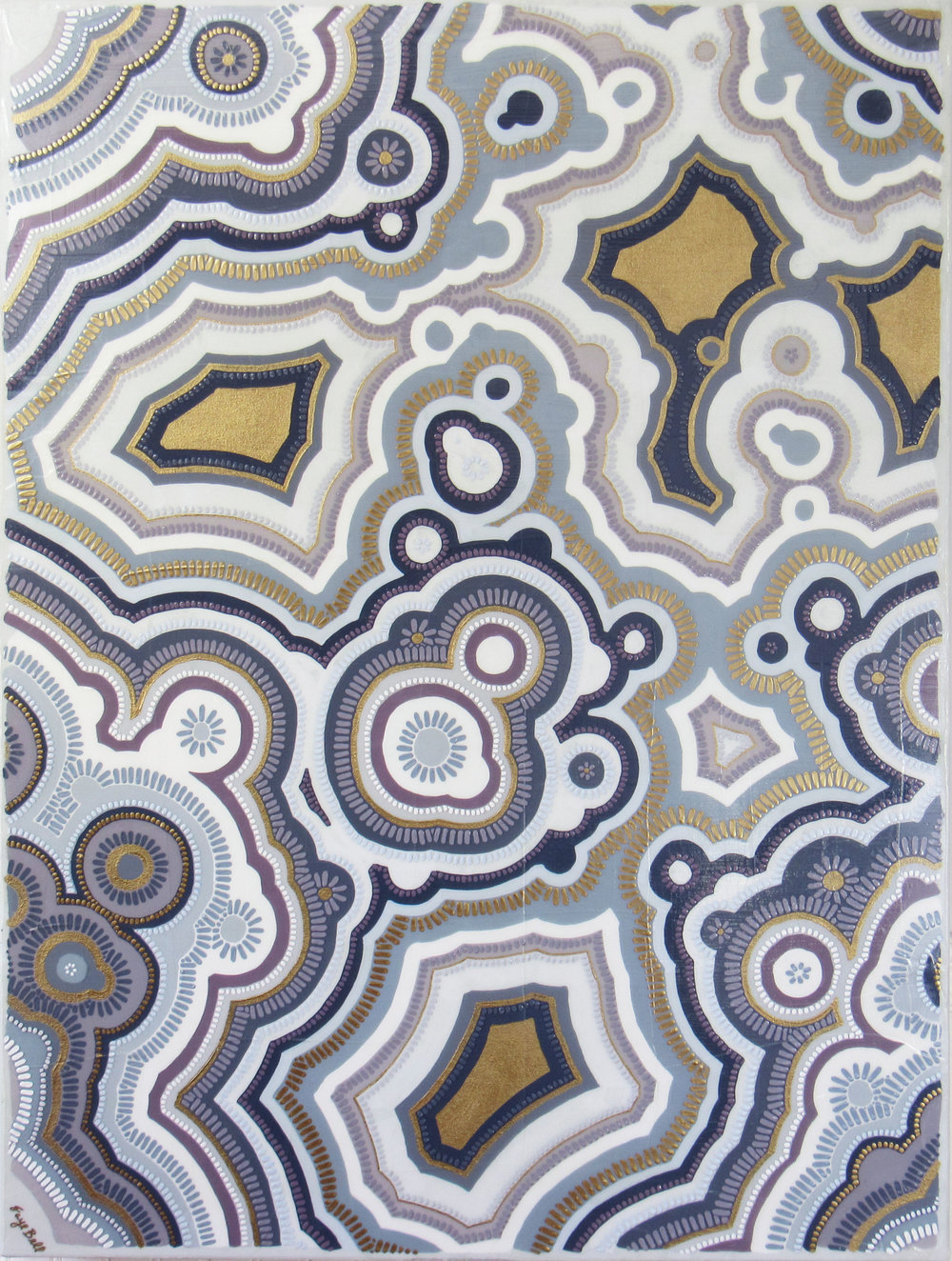 Agate 10 , 2018, 30x40, acrylic on canvas. sold.