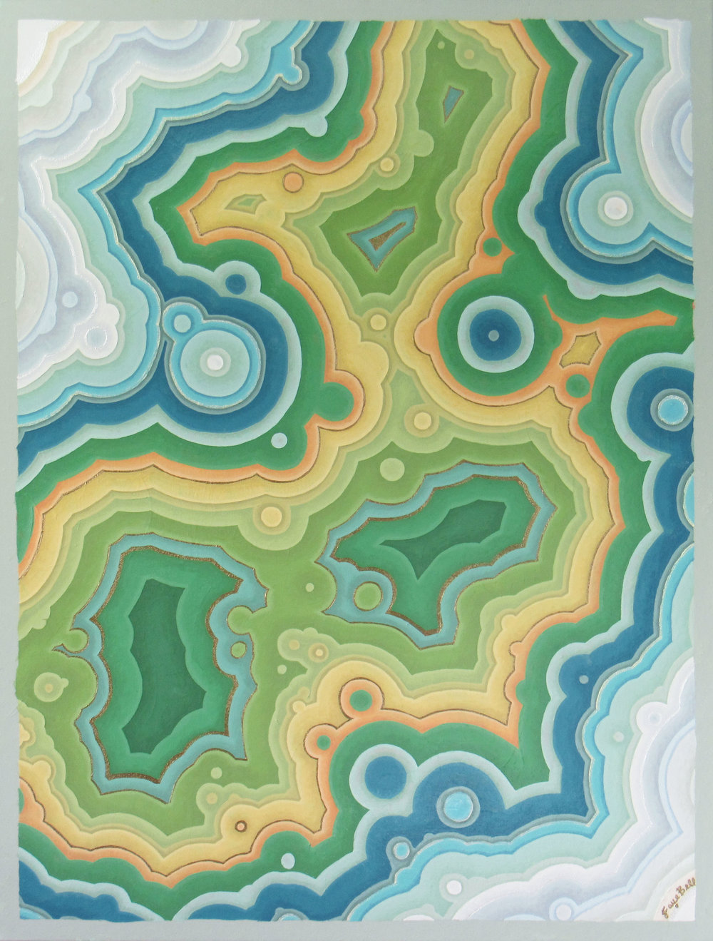 Agate 11 , 2018, 30x40, acrylic on canvas. available through  Atlanta Artist Collective .