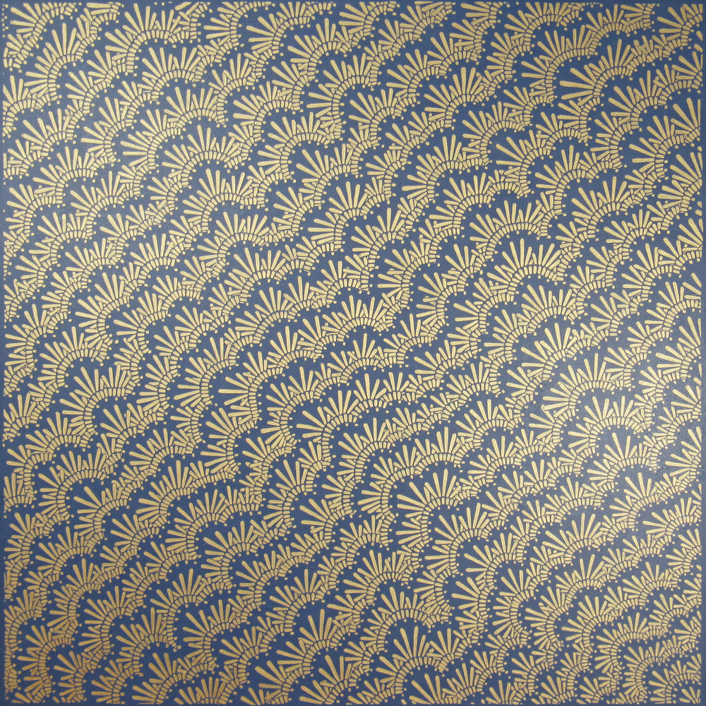 Gold & Navy , 2017, 36x36, acrylic on canvas. available.