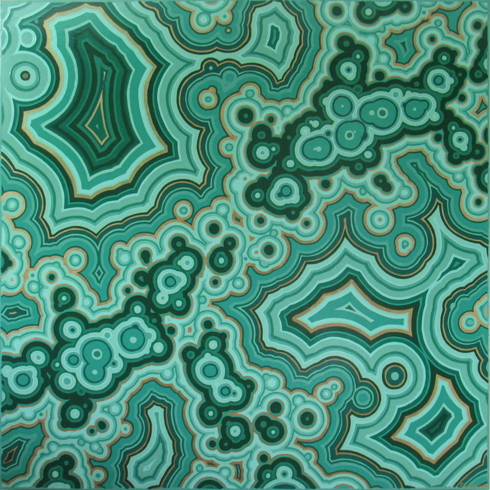 Malachite I , 2018. 48x48. available.