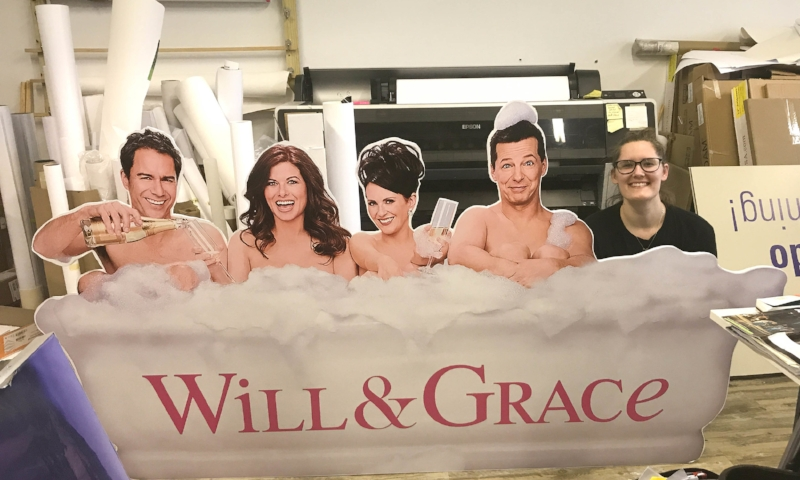 Custom cut out for NBC