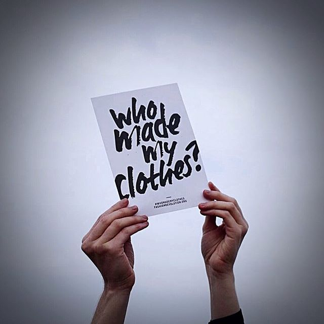 This week for #FashionRevolutionWeek you're asked to start a conversation with your favorite brands by asking #whomademyclothes. Let them know your concerns– Are the people behind our clothing being fairly compensated? Are they treated with respect and working in safe conditions? The sad reality is the answers to these questions are often not what we want to hear. Many brands can't even provide an answer because they don't care to fully trace their supply chain. If you value the proper treatment of those making your clothing, let brands know. They won't care until they know YOU care.  Show you care by posting on Instagram, tweeting at brands, or sending them an email. Check our story for a simple template of what to say when tagging brands! All of our collective actions this week, no matter how small, have the ability to spark big changes 👊✨ 📷: @goodonyou_app