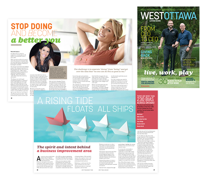 GREAT RIVER MEDIA  | West Ottawa Board of Trade Magazine | Design and production