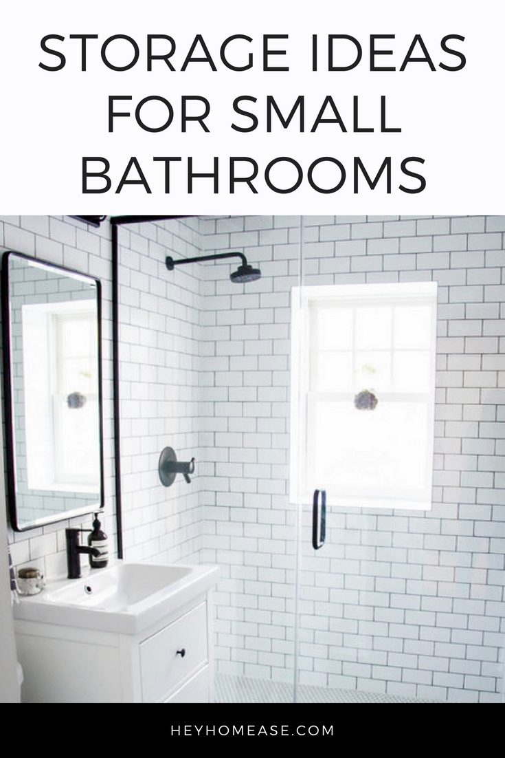 Storage Ideas For Small Bathrooms — homease