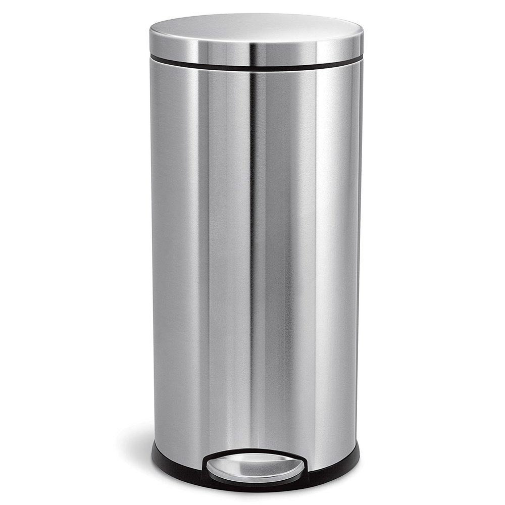 Simple Stainless steel Kitchen trash can from Amazon