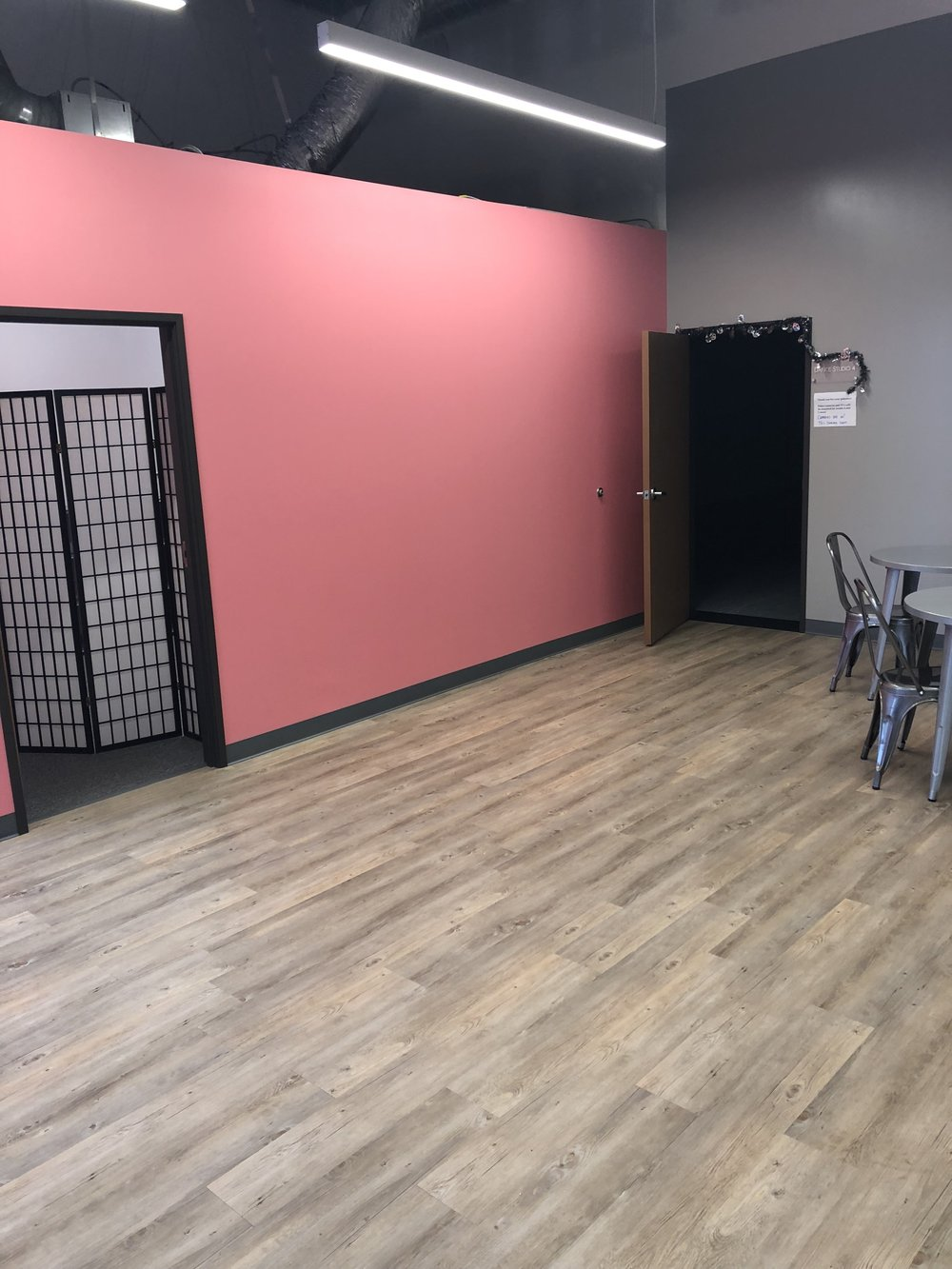 expanded lobby/second changing room entrance