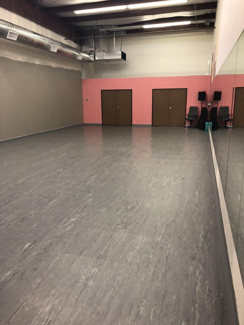 Dance Studio 5- painting in progress