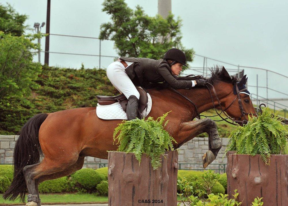 Weak position, horse picks up the slack.